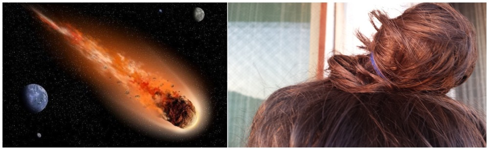 an actual asteroid VS my bun