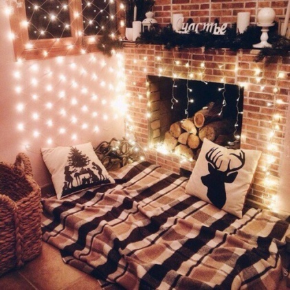 christmas festive room decor inspiration, tumblr, pinterest, artsy photo, blogmas 2015, day 3, fairy lights