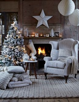 christmas festive room decor inspiration, tumblr, pinterest, artsy photo, blogmas 2015, day 3, fireplace, christmas, white aesthetics